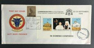 MCR16) Hutt River Province 1979 Vatican Minisheet FDC