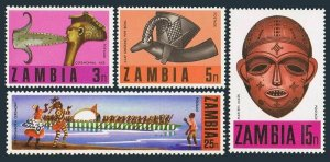Zambia 66-69,69a,MNH.Michel 66-69,Bl.1. Traditional Crafts 1970.Ceremonial axe,