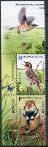 Belarus 2021. Endangered species of animals (I) (MNH OG) Block of 2 stamps