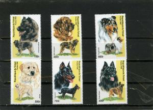 CHAD 1999 Sc#845A-845E  FAUNA DOGS SET OF 6 STAMPS MNH