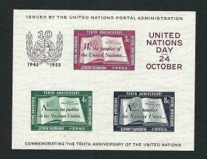UN #38 Souvenir Sheet (Mint never hinged) cv$50.00