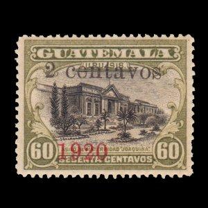 GUATEMALA STAMP 1920 SCOTT # 167. UNUSED.