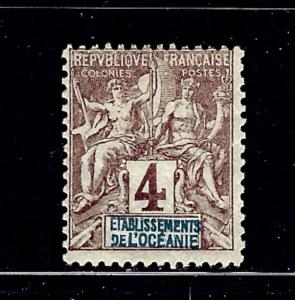 French Polynesia 3 MLH From the 1892-1907 set