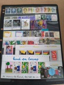 Lot Netherland 47 stamps + 2 mini sheets