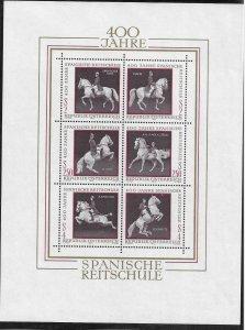 1972   AUSTRIA   -  SG.  MS 1645  -  SPANISH RIDING SCHOOL ANNIVERSARY   -  MNH