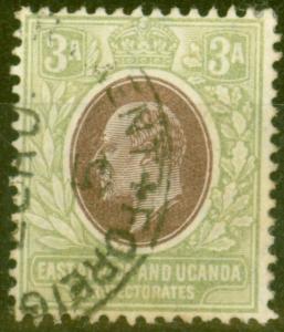 B.E.A KUT 1904 3a Brown-Purple & Green SG22 Fine Used