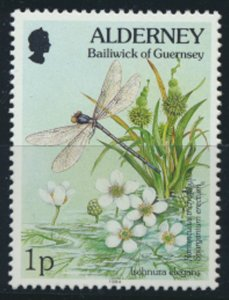 GB Alderney  SG A60 MNH 1p   Blue Tailed Damselfly 1994 SC# 70 See scan