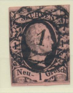 Saxony (German State) Stamp Scott #5, Used - Free U.S. Shipping, Free Worldwi...