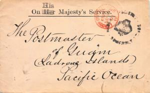 Great Britain 1902 Stampless Cover Sent to Guam, Via San Francisco and Manila
