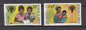 DJIBOUTI SC# 489-490 INTERNATIONAL YEAR OF THE CHILD 1979 -MNH -  IMPERF SET