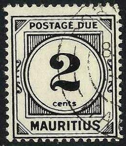 Mauritius SGD8 2c Wmk w12 Post Due Fine Used Cat 10 pounds