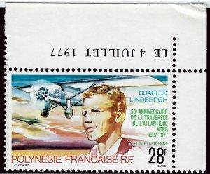 French Polynesia Sc C149 Plate # single MNH VF SCV$10...Polynesia is Unique!