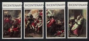 Jersey Bicentenary of Battle of Jersey 4v Top Margins SG#244-247