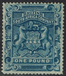 RHODESIA 1892 ARMS 1 POUND