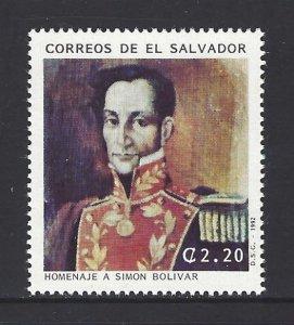 EL SALVADOR SIMON BOLIVAR Sc 1321 MNH 1992