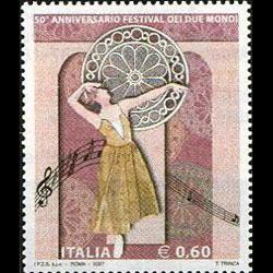 ITALY 2007 - Scott# 2822 Two World Fest. Set of 1 NH