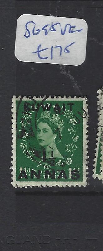 KUWAIT  (P2409B)  QEII ON GB 1  1/2A/1 1/2D  SG 95    VFU