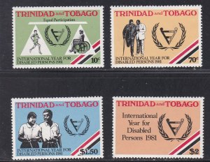 Trinidad & Tobago MNH 341-4 International Year Of The Disabled 1981