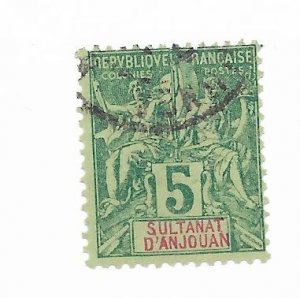 Anjouan #4 Used - Stamp - CAT VALUE $5.25