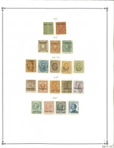 Eritrea 1892-1934 Mint in Mounts & Used Hinged on Scott International Pages.