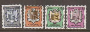 French Andorra #161-4 Mint
