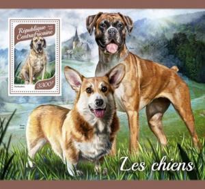 Central Africa - 2017 Dog Breeds - Stamp Souvenir Sheet - CA17904b