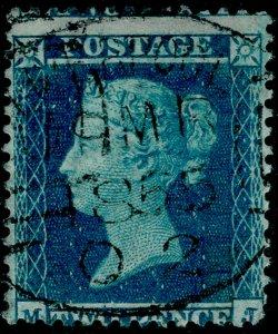 SG23, 2d blue plate 4, SC14, FINE USED, CDS. Cat £225.