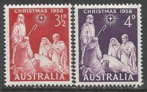 AUSTRALIA 312-13 MOG CHRISTMAS M930