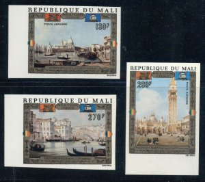 MALI MAURITANIA TCHAD NIGER: Four 1972 MNH Imperf Sets; UNESCO Venice Paintings
