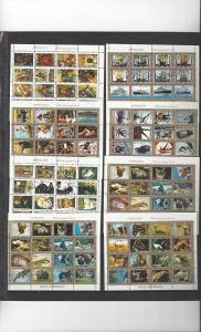 Ajman Mini Sheets of 16, Various Subjects  CTO Never hinged, full gum