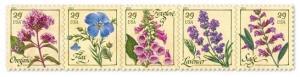 2011 29c Herbs, Strip of 5 Scott 4505-09 Mint F/VF NH