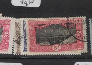 French Somali Coast SC 111, 116, 118 VFU (3dpj)