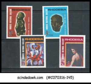 RHODESIA - 1967 10th ANNIVERSARY OF RHODES NATIONAL GALLERY / PAINTINGS 4V MNH