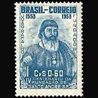 BRAZIL 1953 - Scott# 740 Santo Andre Set of 1 LH