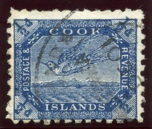 Cook Islands 1899 QV ½d steel blue (1st setting) very fine used. SG 11.