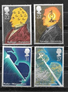 Great Britain # 1360-63  Sciences & Technology    (4) Mint NH