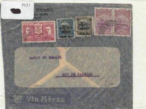 Brazil 1931 stamp cover Ref 9057