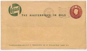 AD4 1956 GB Castrol Oil Postal Stationery London Cover {samwells-covers}