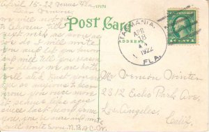 United States Florida Tasmania 1922 4b-bar  1916-1930  PC.
