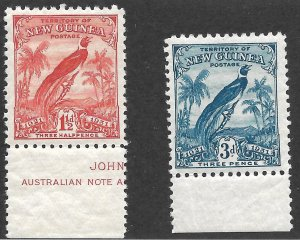 Doyle's_Stamps: MNH British New Guinea Margin Issues Scott #19** & #21**