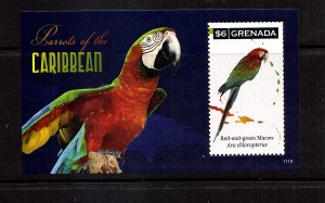 Grenada  Parrots of the Caribbean  SS  mnh