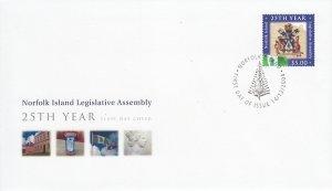 Norfolk Island 2004 FDC Sc #831 $5 Norfolk Island Legislative Assembly 25th A...