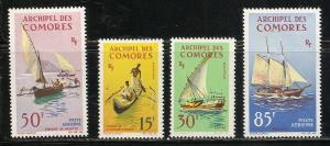 Comoro Islands 61-2 C10-11 1964 Boats set MNH
