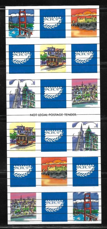 United States - PACIFIC 97 Souvenir Sheet - VF - Mint Never Hinged (NH)