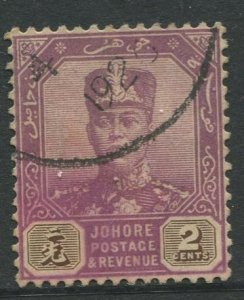 STAMP STATION PERTH Johore #102 Sultan Ibrahim Definitive  Wmk 4 Used 1921-1940