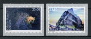 Greenland 2018 MNH Environment II Polar Bears 2v S/A Set Wild Animals Stamps