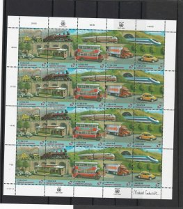 United Nations 1997 Celeb. Transportation Mint Never Hinged Stamps Sheet R18434