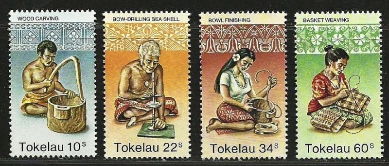TOKELAU  1982 Very Fine Mint Hinged Stamps Scott#  81-84