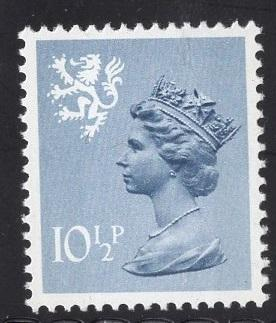 Great Britain Scotland  #SMH14 10 1/2p MNH Q E II   Machin
