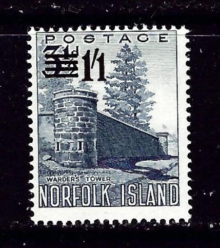 Norfolk Is 2 Hinged 1960 Surcharge